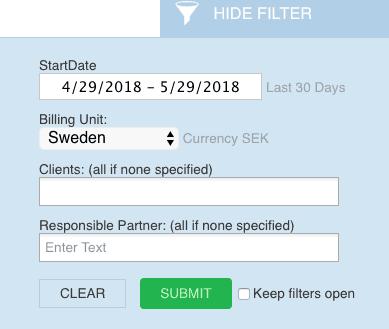 LEX247 Report Filters